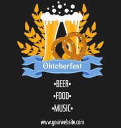 Oktoberfest celebration traditional decoration vector