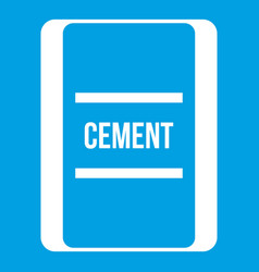 One bag of cement icon white vector