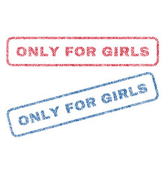 Only for girls textile stamps vector