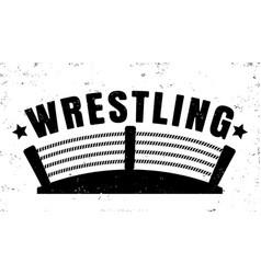 retro emblem for wrestling vector image