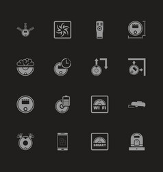 Robot vacuum cleaners - flat icons vector