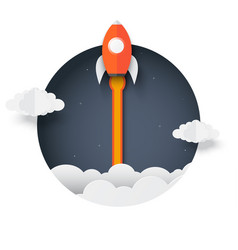 rocket outside box space shuttle launch vector image