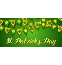 Saint Patricks Day seamless pattern Garland flags vector image