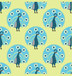 Seamless pattern peacock background vector