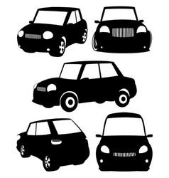 set black cars vector image