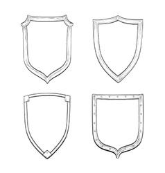 Set of vintage shields vector image