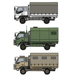 Small terrain trucks vector image