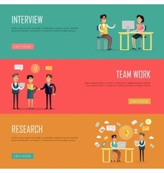 Social Teamwork Concept Website Design Template vector image
