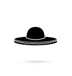 Sombrero mexican hat colorful flat icon vector