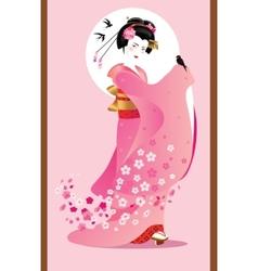 Sporing geisha vector