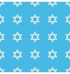 Star of David straight pattern vector