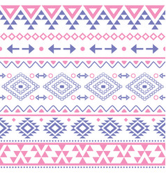 tribal geometric aztec seamless pattern vector image