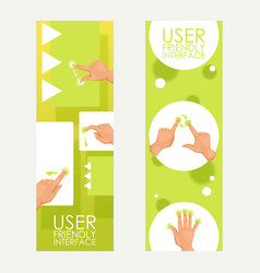 user friendly interface symbols moves set of vector image