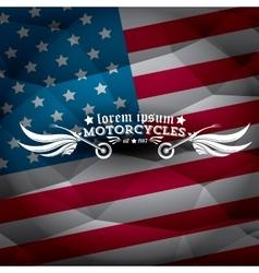 vintage american motorcycle club label or badge vector image