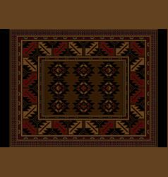 Vintage carpet at maroon and brown shade vector