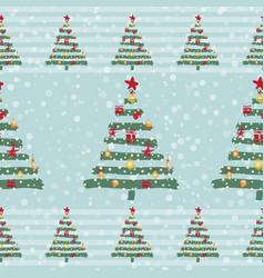 vintage christmas pattern vector image