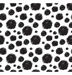 White and black seamless pattern Stylish polka dot vector image vector image