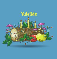 yule log vector image