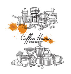 Banner template coffee page design vector