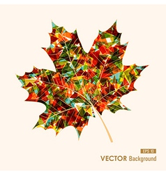 Colorful leaf with triangles inside Autumn vector image vector image