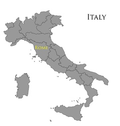 Contour map of Italy 01 vector image vector image