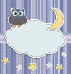 Frame with owl vector image