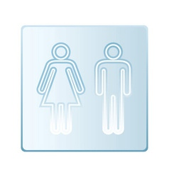 Glass toilet symbols vector image vector image