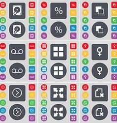 Hard drive Percent Copy Cassette Apps Venus symbol vector image