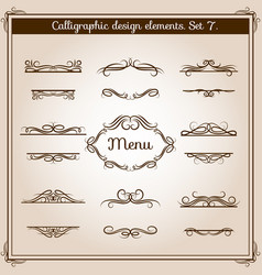 ornamental design antique elements for text vector image vector image