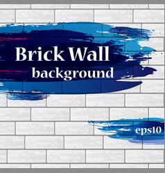 painted brick wall with text vector image vector image