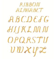 Ribbon alphabet vector image vector image
