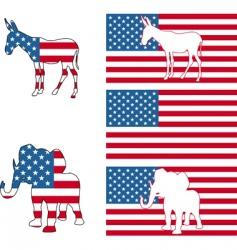 usa political vector image vector image