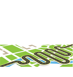 a winding road with markings view in perspective vector image vector image