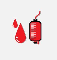 Blood donation medicine help hospital save life he vector image vector image