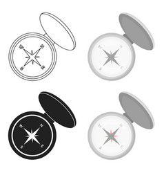 compas icon in cartoon style isolated on white vector image