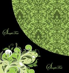 GREEN DAMASK INVITATION CARD vector image vector image