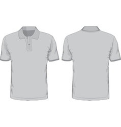 Mens polo-shirts template Front and back views vector image vector image