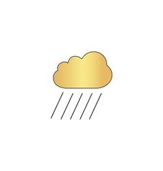 rain computer symbol vector image vector image