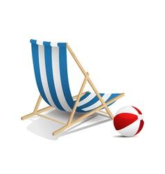 Beach chair vector image vector image