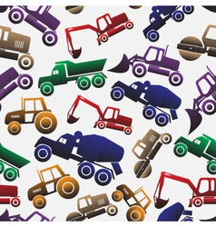 color heavy machinery cars seamless pattern eps10 vector image vector image