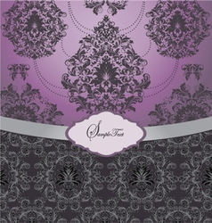 ornate wedding card vector image vector image
