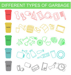sorting different types of vector image vector image
