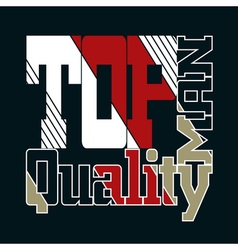 top quality man vector image vector image