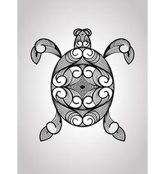 Turtle tattoo style vector image