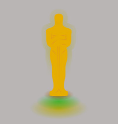 academy award icon in flat style isolated on white vector image