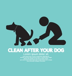 Clean Up After The Dog Symbol vector image