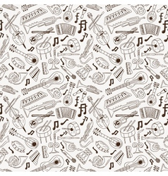 jazz - seamless background vector image vector image
