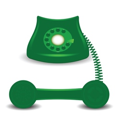 old green phone vector image