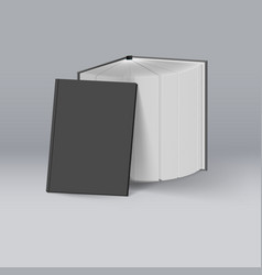 stack of black books mockup template for design vector image vector image