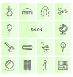 14 salon icons vector